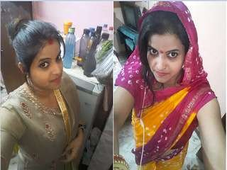Today Exclusive-Sexy Look Desi Bhabhi Record Her Nude Selfie Video For Lover
