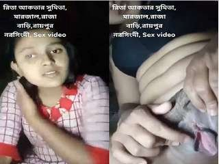 Today Exclusive – Cute Desi Girl Showing Her Boobs and Pussy