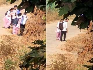 Today Exclusive- Desi Clg Lovers OutDoor Romance