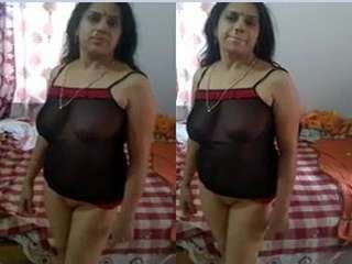 Today Exclusive- Desi Bhabhi Nude Video Record By Hubby Part 1