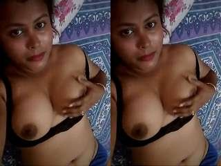 Today Exclusive-  Assamese Bhabhi Record Bathing and Nude Video For Lover Part 2