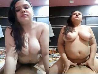 Today Exclusive- Sexy Desi Wife Ridding Dick