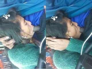 Today Exclusive- Desi Bhabhi Blowjob On Car