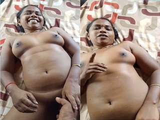 Today Exclusive- Desi Tamil Randi Bhabhi Nude Video Record By Lover