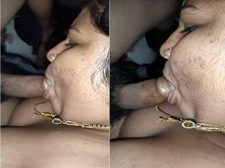 Today Exclusive- Sexy Desi BIg Boob Bhabhi Blowjob