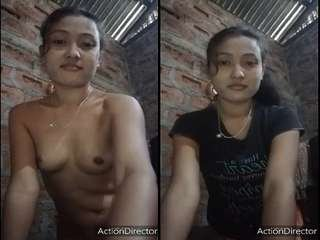 Today Exclusive-  Cute Assamese Girl Record her Nude Video for Lover