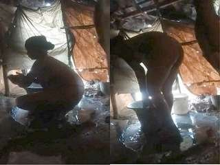 Today Exclusive-Desi Village Girl Bathing Capture In Hidden Cam