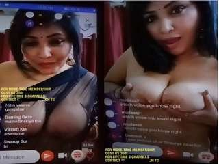 Today Exclusive-Sexy Rajsi Verma Showing Her Boobs On Live Show