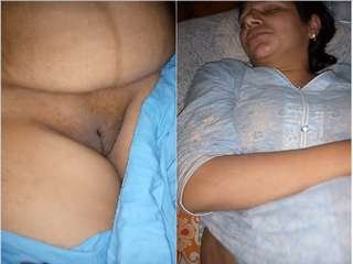 Today Exclusive- Paki Wife Nude Video Record by Hubby Part 1
