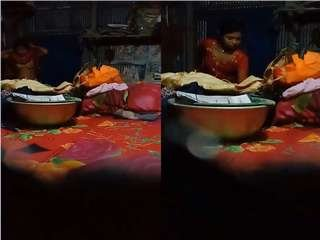 Today Exclusive- Desi Village Girl Changing Her Cloths Record On Hidden Cam