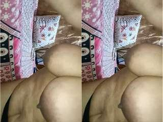Today Exclusive- Desi BBW Bhabhi Showing Her Boobs and Pussy part 2