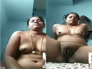 Today Exclusive- Telugu Cheating Wife Showing her Nude Body to Lover On Video Call