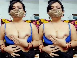 Today Exclusive-Super Sexy Figure Bhabhi Showing Her Nude Body Part 1