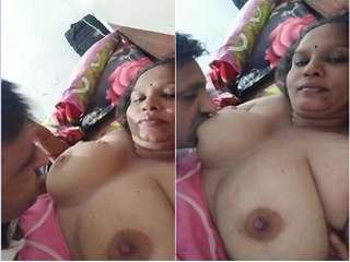 Today Exclusive- Married Gujarati Bhabhi Boobs Sucking By Hubby Friend