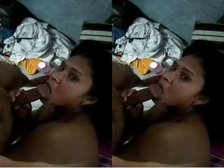 Today Exclusive – Sexy Bhabhi Blowjob and Hubby Record Her Nude Video Part 1