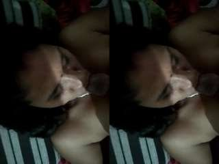 Today Exclusive – Sexy Bhabhi Blowjob and Hubby Record Her Nude Video Part 2