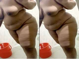 Today Exclusive- Desi BBW Wife Nude Video Record By hubby Part 1