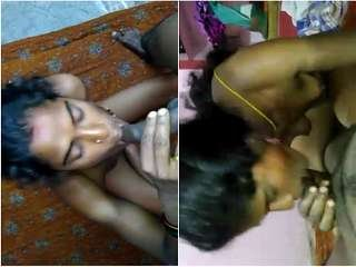Exclusive- Desi Tamil wife Blowjob and fucked by Hubby