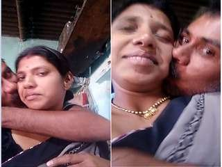 Exclusive- Desi Couple Romance and Hubby Pressing Wife Brest