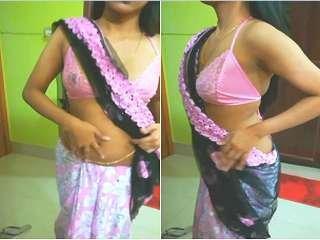 Exclusive- Desi Girl Ramya Strip Tease her Saree