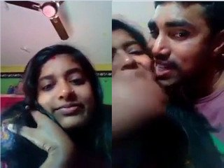 Desi Indian Couple Kissing