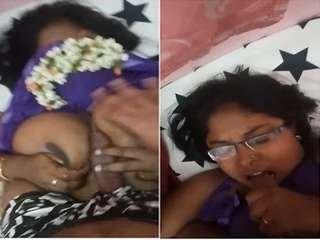 Today Exclusive- Desi Bahbhi Blowjob And Boob FUck