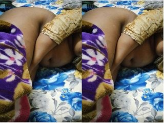 Exclusive- Desi Sleeping Wife Boobs and Ass capture By Hubby