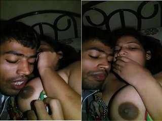 Exclusive- Sexy Bangla Girl Boob Sucking By Lover