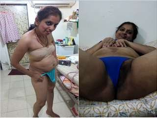 Today Exclusive- Famous Delhi Bhabhi Showing her Boobs and Pussy