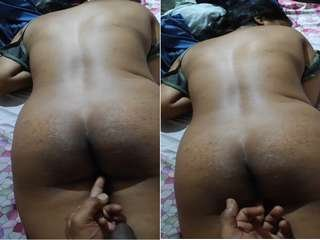 Today Exclusive- Sexy Desi Wife Pussy Fingering After Sex