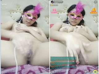 Today Exclusive- Horny Nepali Gilr Showing Her Boob and wet pussy On Live App Show