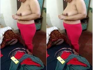 Today Exclusive- Sexy Desi Wife Wearing Cloths