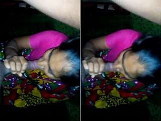 Today Exclusive- Desi Boudi Blowjob with Clear Audio