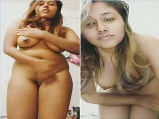 Today Exclusive- Hot Look Desi Girl Record Her Nude Video part 1