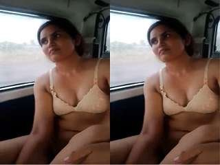 Today Exclusive- Desi Call Girl Fucked In Car