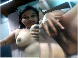 Exclusive- Horny Tamil Girl Pressing Her Boobs and pussy Fingering