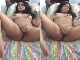 Today Exclusive- Cute Desi Girl Fingering and Cum